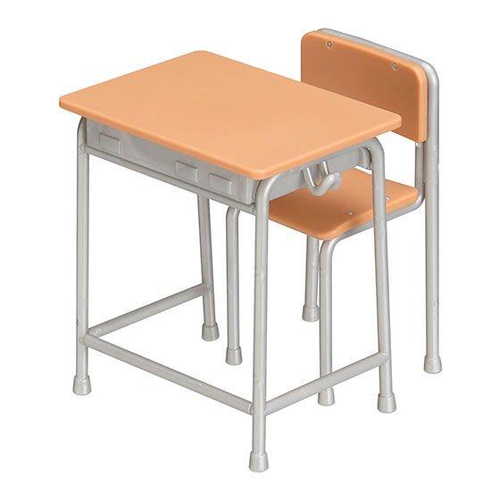 バンダイ ガシャプラQ 1/12 学校の教室 Aセット(ライトブラウン+シルバー) BC0572