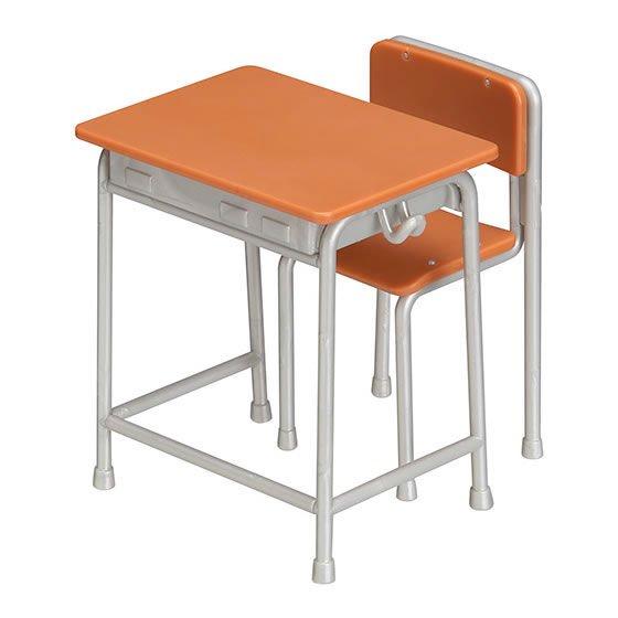 バンダイ ガシャプラQ 1/12 学校の教室 Cセット(ダークブラウン+シルバー) BC0574