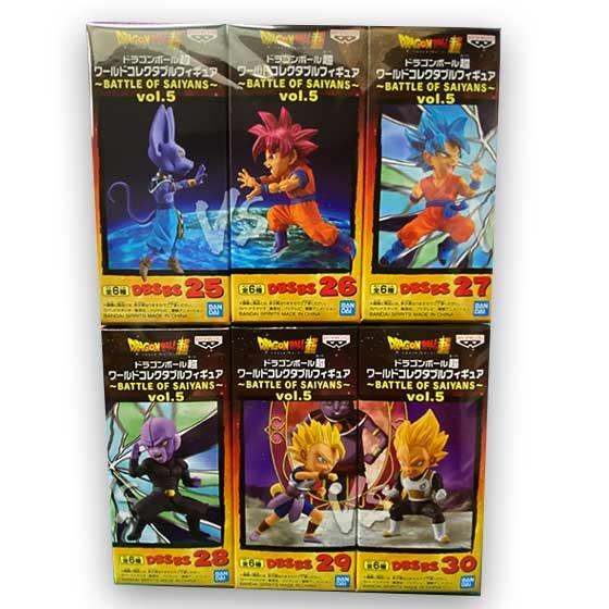 ドラゴンボール超 ワールドコレクタブルフィギュア〜BATTLE OF SAIYANS〜vol.5 全6種フルセット DP0165