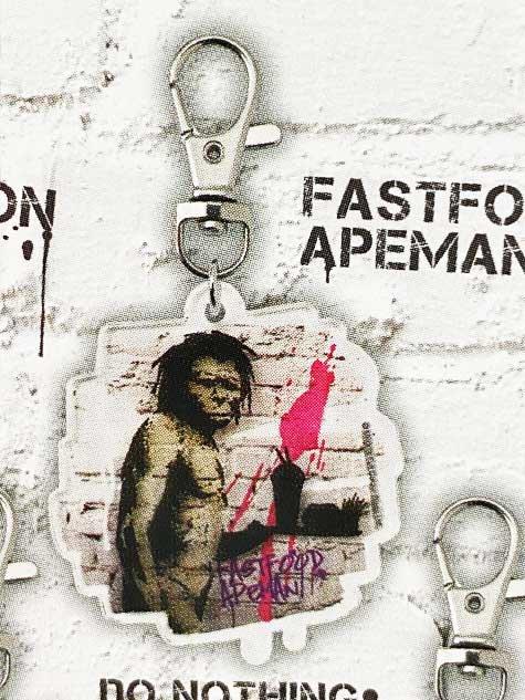 タカラトミーアーツ BANKSY'S GRAFFITI アクリルキーホルダー FASTFOOD APEMAN バンクシー TC01025
