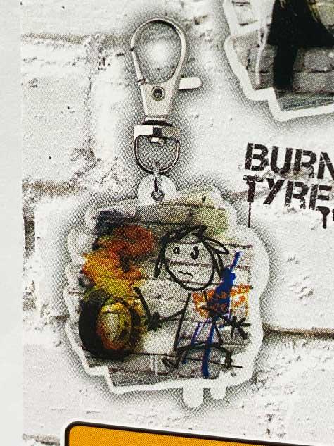 タカラトミーアーツ BANKSY'S GRAFFITI アクリルキーホルダー BURNING TYRE バンクシー TC01027