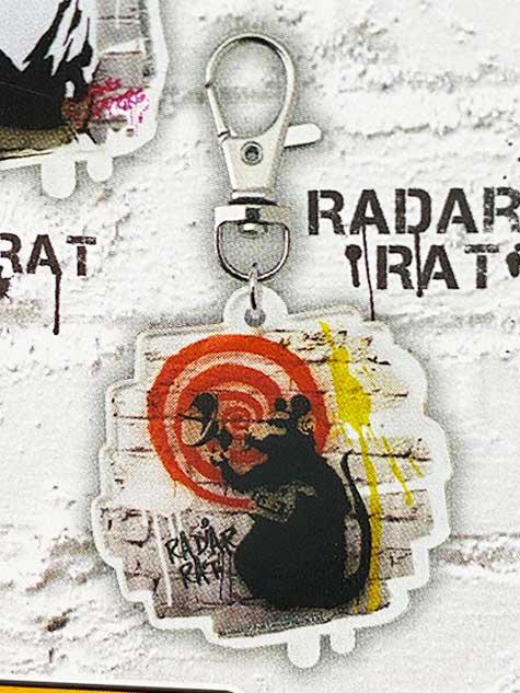 タカラトミーアーツ BANKSY'S GRAFFITI アクリルキーホルダー RADAR RAT バンクシー TC01030