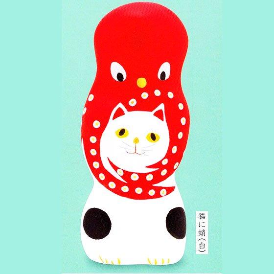 キタンクラブ 相良人形 猫に蛸 猫に蛸(白) TC01047