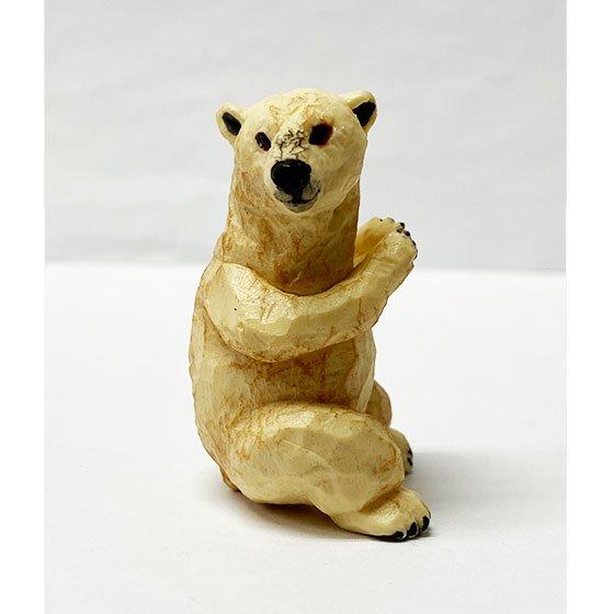 キタンクラブ ART IN THE POCKET はしもとみおの彫刻 動物園のなかま ホッキョクグマ (のんほいパーク) TC01176
