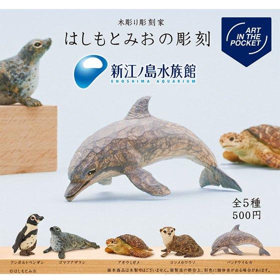 キタンクラブ ART IN THE POCKET はしもとみおの彫刻 新江ノ島水族館 全5種フルセット TC01178