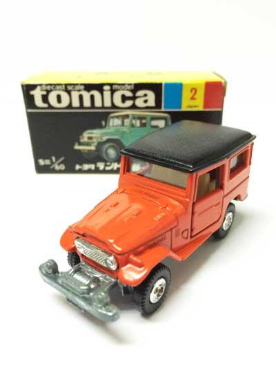 トミカ 2 トヨタ ランドクルーザー ギフト版単品黒箱付属(耳無、記載有り) TMC00541