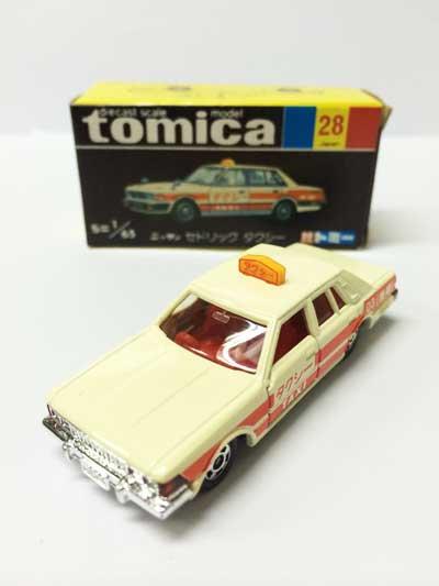 トミカ NO.28 ニッサン セドリック タクシー 黒箱