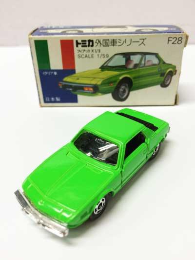 トミカ F228 フィアットX1/9 青箱(耳無し)