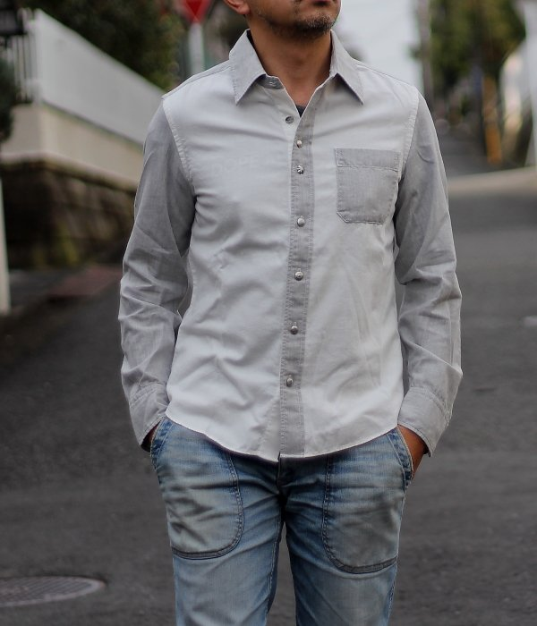 <img class='new_mark_img1' src='https://img.shop-pro.jp/img/new/icons24.gif' style='border:none;display:inline;margin:0px;padding:0px;width:auto;' />TWO-TONE SHIRT