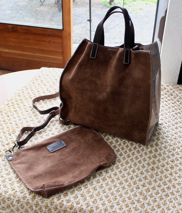 <img class='new_mark_img1' src='https://img.shop-pro.jp/img/new/icons24.gif' style='border:none;display:inline;margin:0px;padding:0px;width:auto;' />【MARLON】 LEATHER TOTE BAG & SHOULDER BAG  SET