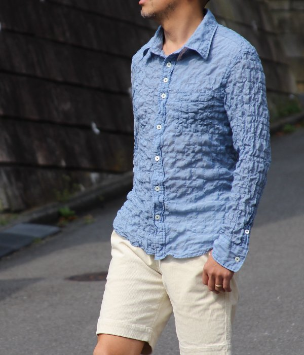 <img class='new_mark_img1' src='https://img.shop-pro.jp/img/new/icons24.gif' style='border:none;display:inline;margin:0px;padding:0px;width:auto;' />さざなみ GINGHAM SHIRT