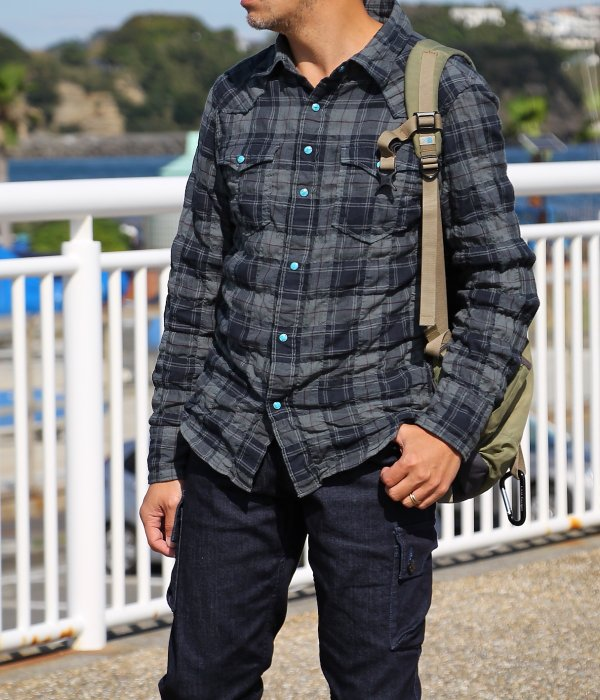 <img class='new_mark_img1' src='https://img.shop-pro.jp/img/new/icons5.gif' style='border:none;display:inline;margin:0px;padding:0px;width:auto;' />【 Fab Garden 】 RELAX CHECK WESTERN SHIRT