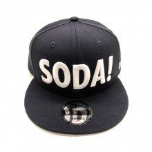 SODA!×NEW ERAコラボスナップバックキャップ