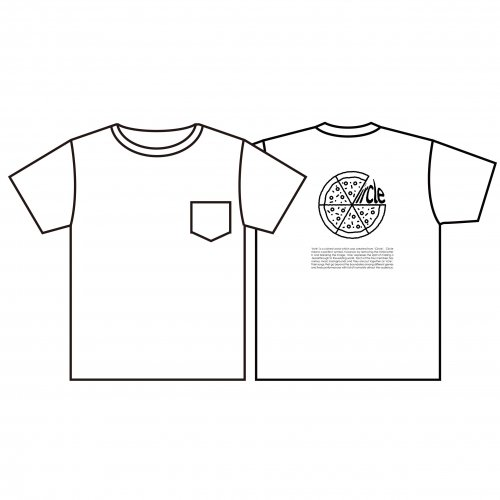ircle_Back Print PIZZA Pocket Tシャツ