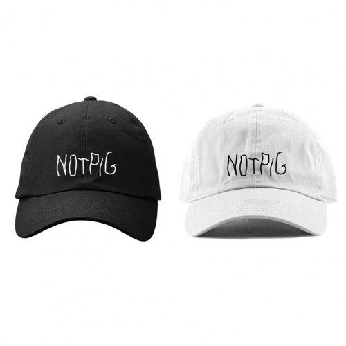 [受付終了]PIGGS_NOT PIG 刺繍 CAP