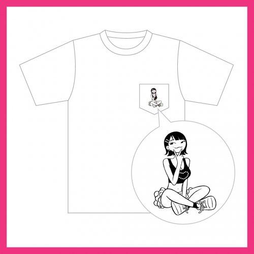[受付終了]でか美祭_イラストTシャツ(ポケット付/白)