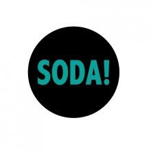SODA!_缶バッジ2_BLACK*GREEN PRINT