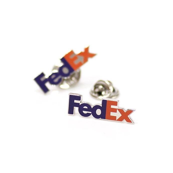 127416212 FedEx / Pewter Lapel Pin フェデックス ロゴピンバッジ 01
