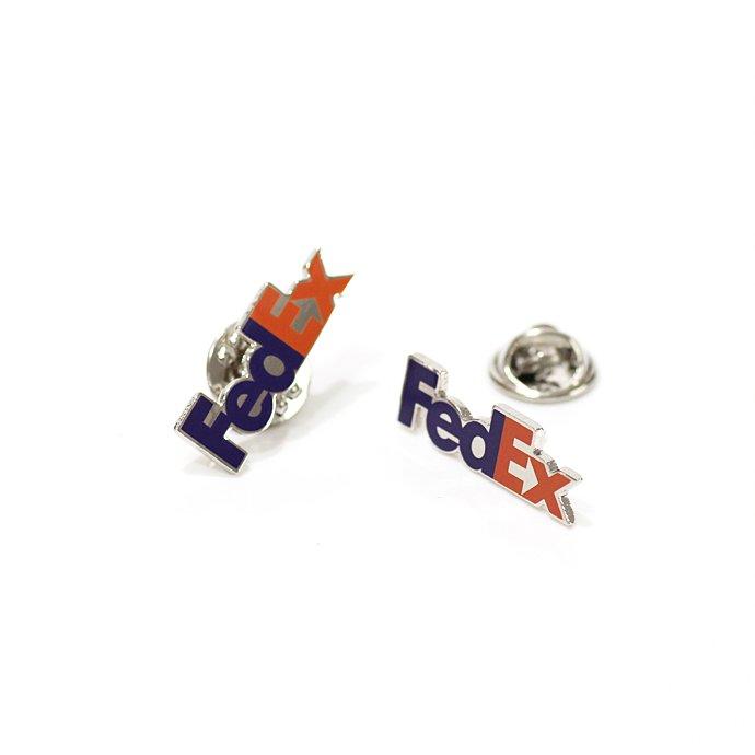 127416212 FedEx / Pewter Lapel Pin フェデックス ロゴピンバッジ 02
