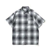 CalTop / 2000 オンブレチェック S/Sシャツ - Grey/White