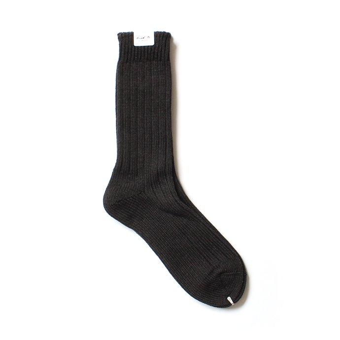 130441498 Trad Marks / Old Rib Socks リブソックス - Ash Black 01