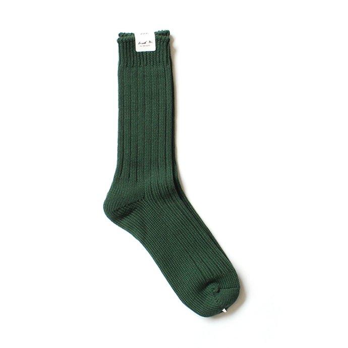 130441620 Trad Marks / Old Rib Socks リブソックス - British Green 01