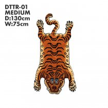 Tibetan Tiger Rug チベタンタイガーラグ DTTR-01 Mサイズ<img class='new_mark_img2' src='https://img.shop-pro.jp/img/new/icons47.gif' style='border:none;display:inline;margin:0px;padding:0px;width:auto;' />