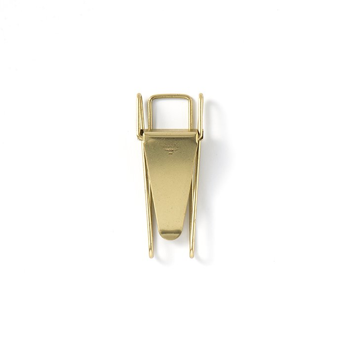 135274810 CANDY DESIGN & WORKS / Hopper Double Clip CHW-01 ダブルクリップ - Brass 01