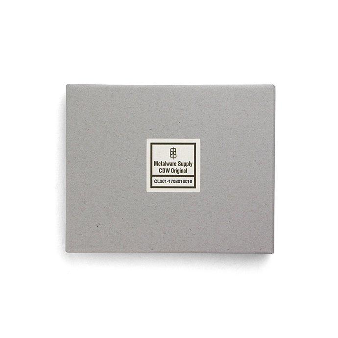 135275678 CANDY DESIGN & WORKS / Cassady CLS-01 レザーカードケース - ブラウン/ニッケル 02