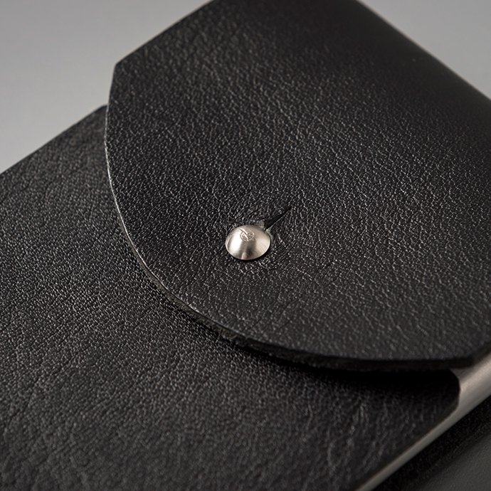 135275741 CANDY DESIGN & WORKS / Cassady CLS-01 レザーカードケース - ブラック/ニッケル 02