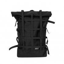 BRAASI INDUSTRY / WEBBING - 18L Black 耐水ロールトップバックパック
