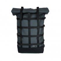 BRAASI INDUSTRY / WEBBING - 18L Grey 耐水ロールトップバックパック
