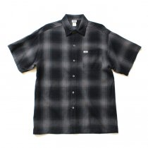 CalTop / 2000 オンブレチェック S/Sシャツ - Black/Charcoal