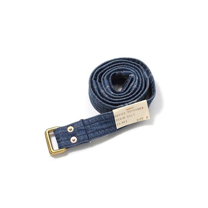 143227903 Hexico / Deformer Belt ex. 501 - Blue リメイクデニムベルト ダークブルー 01