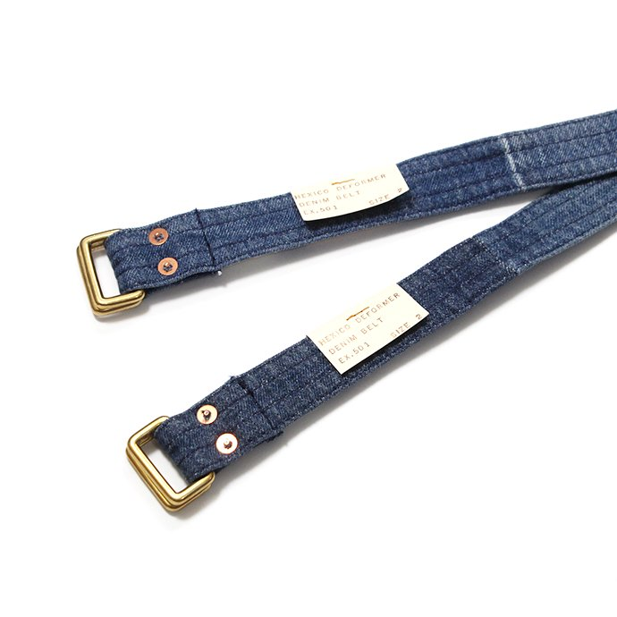 143227903 Hexico / Deformer Belt ex. 501 - Blue リメイクデニムベルト ダークブルー 02