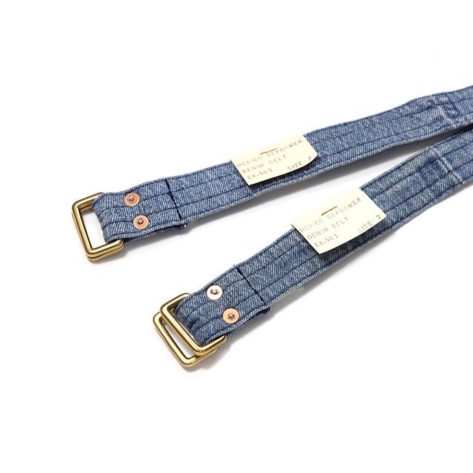143228052 Hexico / Deformer Belt ex. 501 - Blue リメイクデニムベルト ライトブルー 02