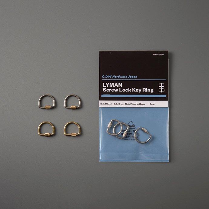 145048898 CANDY DESIGN & WORKS / Lyman CHW-03 スクリューロックキーリング - 全3色 01