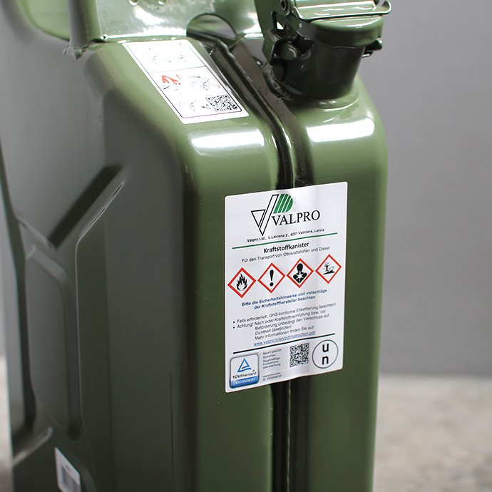 145050393 Hunersdorff / Metal Fuel Can Classic 20L ヒューナースドルフ 燃料携行缶 02