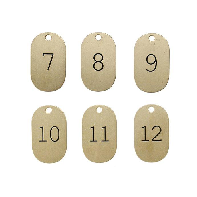 146597953 CANDY DESIGN & WORKS / Lunar Calendar Plate Key Tag CK-14 キータグ - Brass×Black 02