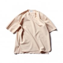 blurhms ROOTSTOCK / Rough & Smooth Thermal Over-neck S/S BHS-RKSS20018 - AshPink サーマルオーバーネック アッシュピンク