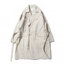 STILL BY HAND / CO01201 コットン/ナイロン セミダブルトレンチコート - Beige<img class='new_mark_img2' src='https://img.shop-pro.jp/img/new/icons20.gif' style='border:none;display:inline;margin:0px;padding:0px;width:auto;' />