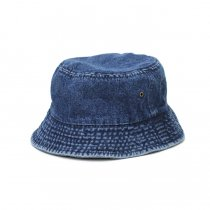 Newhattan / 1530 Denim Bucket Hat - Dark Blue ニューハッタン デニムバケットハット ダークブルー<img class='new_mark_img2' src='https://img.shop-pro.jp/img/new/icons47.gif' style='border:none;display:inline;margin:0px;padding:0px;width:auto;' />