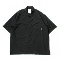 O-(オー)/ ELBOW SLEEVE SHIRT エルボースリーブシャツ 20S-05 - Black Plaid
