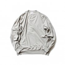 blurhms ROOTSTOCK / Silk Cotton Jersey L/S Loose Fit ROOTS-F206 - Heather Grey<img class='new_mark_img2' src='https://img.shop-pro.jp/img/new/icons47.gif' style='border:none;display:inline;margin:0px;padding:0px;width:auto;' />