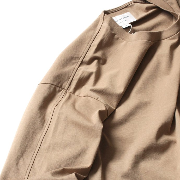 152533822 STILL BY HAND / CS04203 クルーネック長袖ポケットT - Beige 02