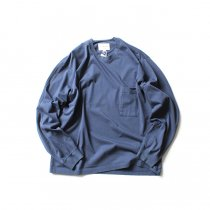STILL BY HAND / CS04203 クルーネック長袖ポケットT - Slate Blue<img class='new_mark_img2' src='https://img.shop-pro.jp/img/new/icons20.gif' style='border:none;display:inline;margin:0px;padding:0px;width:auto;' />
