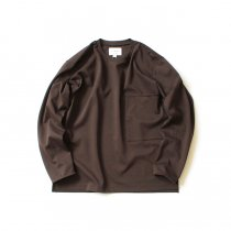 STILL BY HAND / CS03203 ポンチ素材 ビッグポケットカットソー - Brown<img class='new_mark_img2' src='https://img.shop-pro.jp/img/new/icons20.gif' style='border:none;display:inline;margin:0px;padding:0px;width:auto;' />
