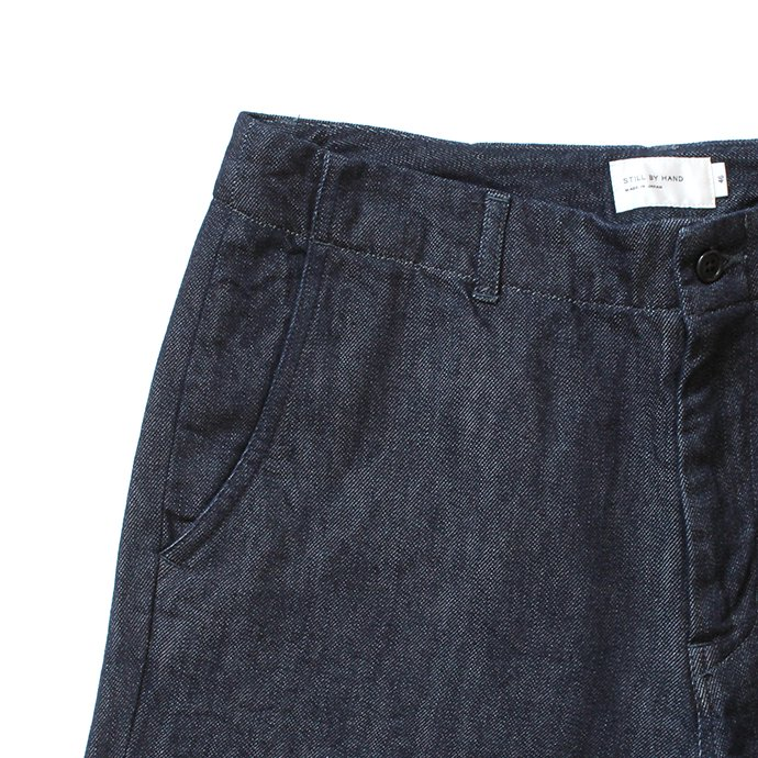 153308017 STILL BY HAND / DN01203 ウール混デニムパンツ - Indigo<img class='new_mark_img2' src='https://img.shop-pro.jp/img/new/icons20.gif' style='border:none;display:inline;margin:0px;padding:0px;width:auto;' /> 02