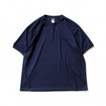 SMOKE T ONE / Dry Pique Tee ドライ鹿の子Tシャツ - Navy<img class='new_mark_img2' src='https://img.shop-pro.jp/img/new/icons20.gif' style='border:none;display:inline;margin:0px;padding:0px;width:auto;' />