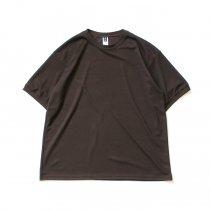 SMOKE T ONE / Dry Pique Tee ドライ鹿の子Tシャツ - Brown